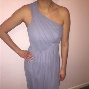 ASOS Pale Grey Bridesmaid Dress